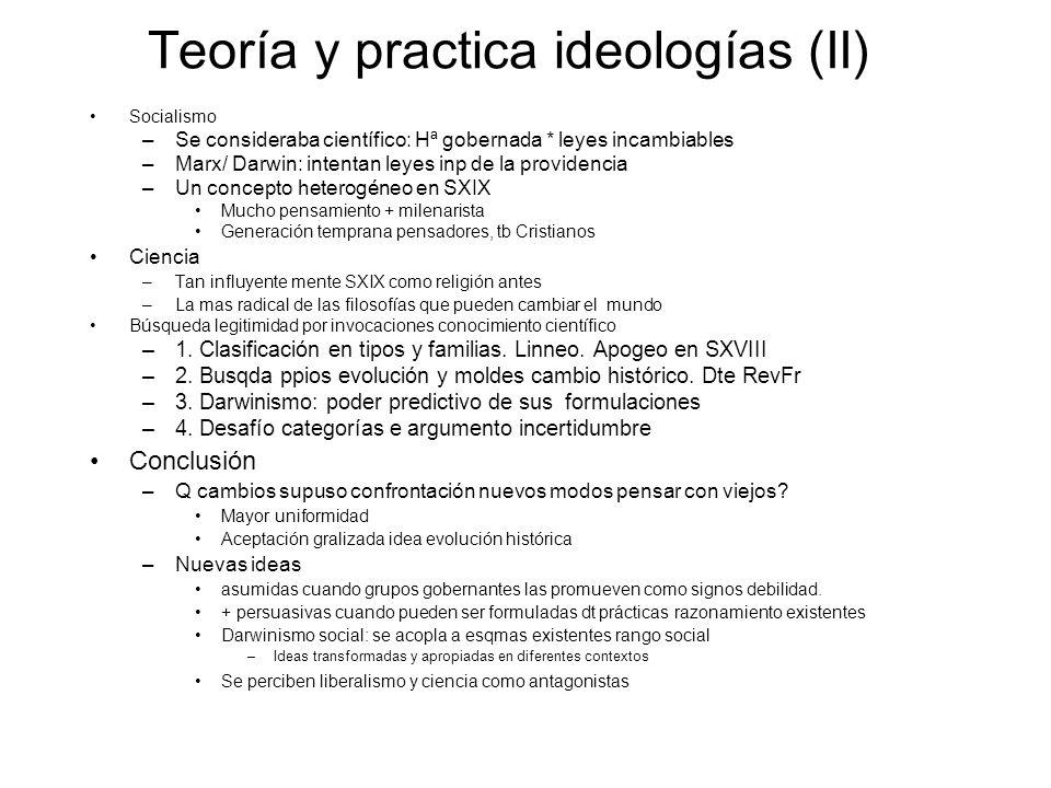 Teoría y practica ideologías (II)