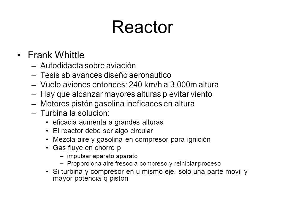 Reactor Frank Whittle Autodidacta sobre aviación