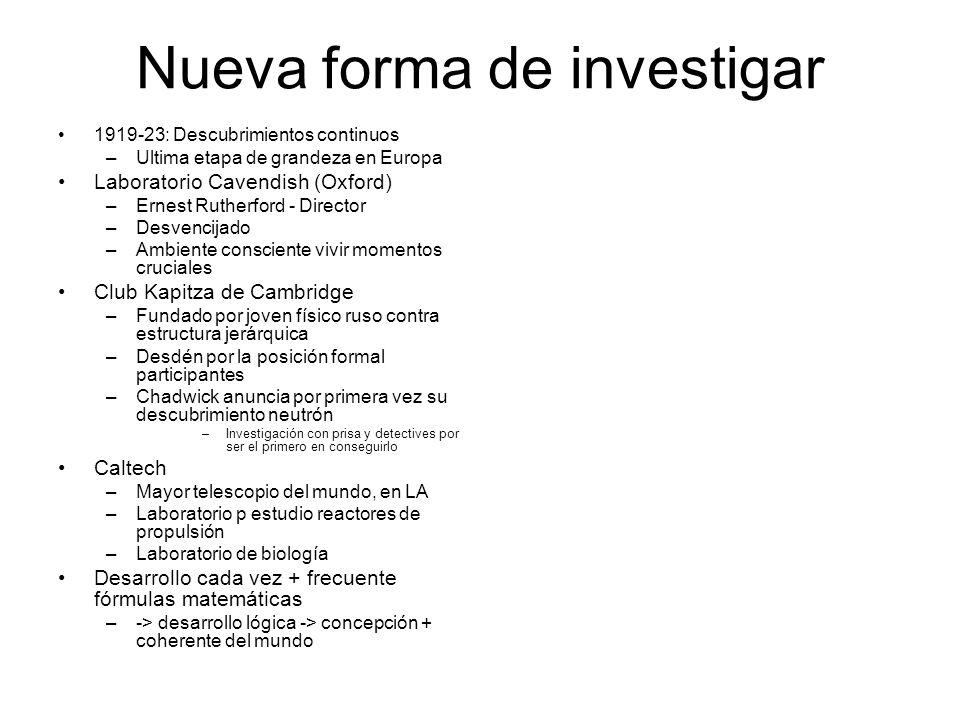 Nueva forma de investigar