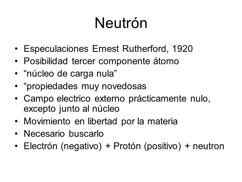 Neutrón Especulaciones Ernest Rutherford, 1920