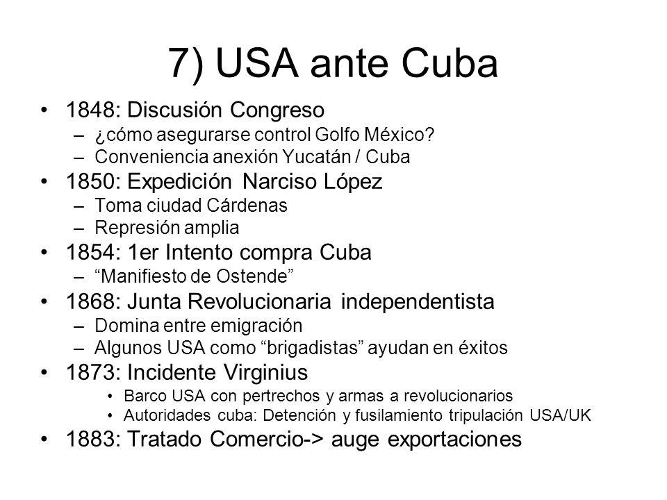 7) USA ante Cuba 1848: Discusión Congreso