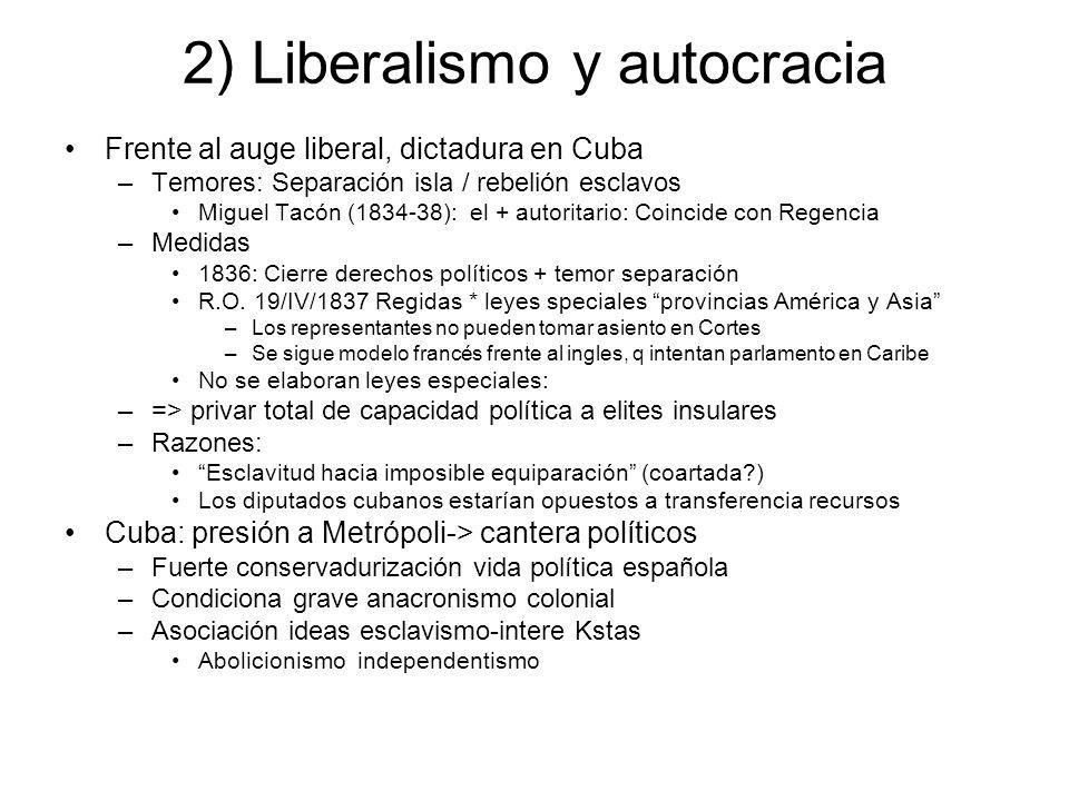 2) Liberalismo y autocracia