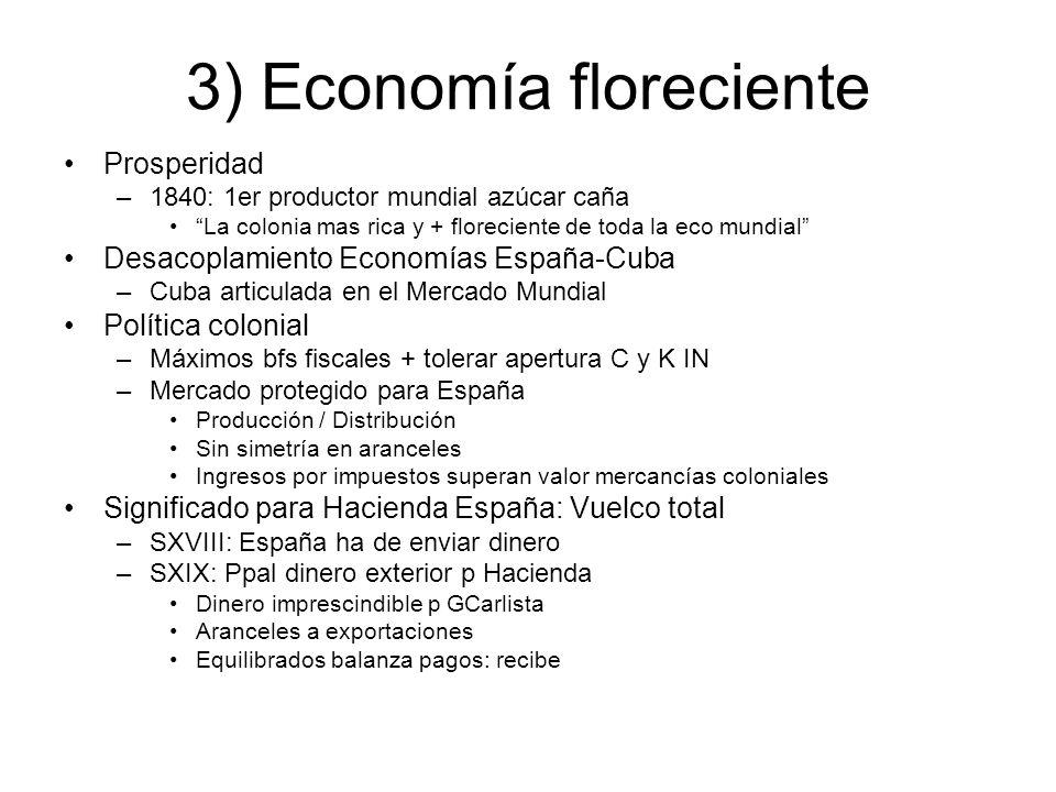 3) Economía floreciente