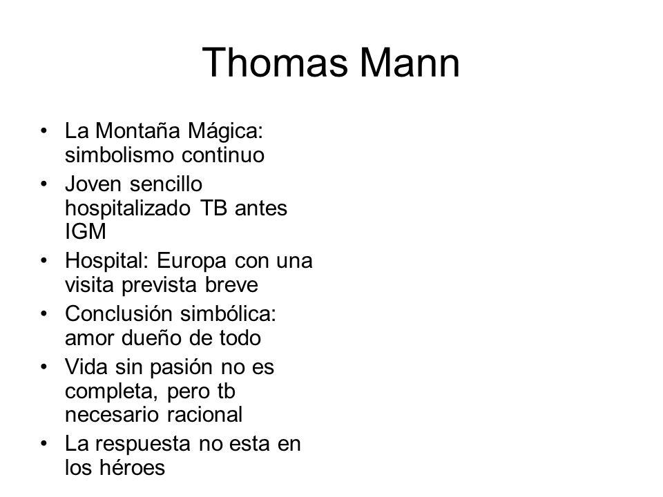 Thomas Mann La Montaña Mágica: simbolismo continuo