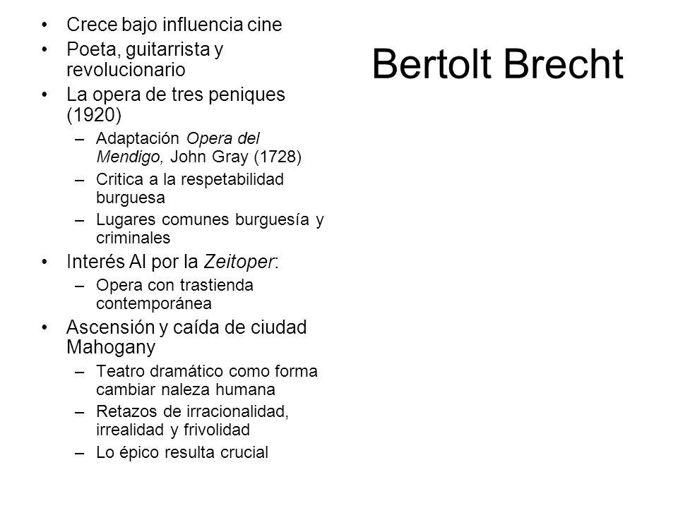 Bertolt Brecht Crece bajo influencia cine