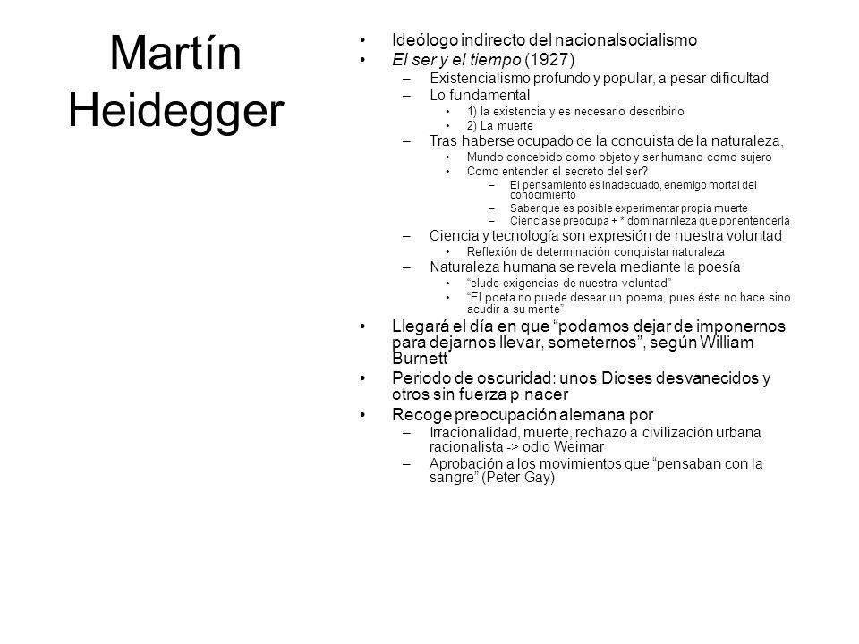 Martín Heidegger Ideólogo indirecto del nacionalsocialismo