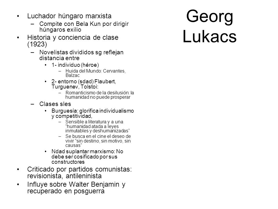 Georg Lukacs Luchador húngaro marxista