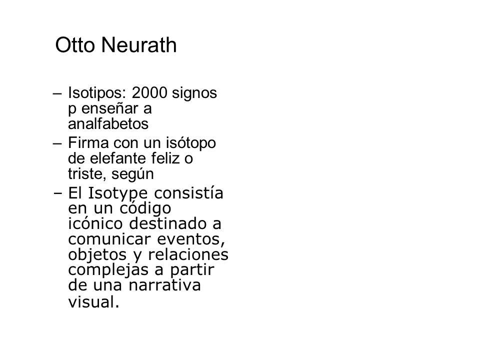 Otto Neurath Isotipos: 2000 signos p enseñar a analfabetos