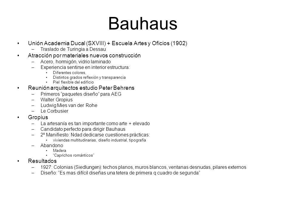 Bauhaus Unión Academia Ducal (SXVIII) + Escuela Artes y Oficios (1902)