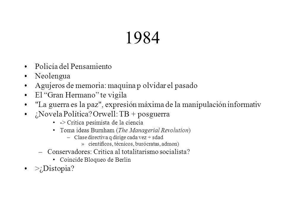 1984 Policía del Pensamiento Neolengua