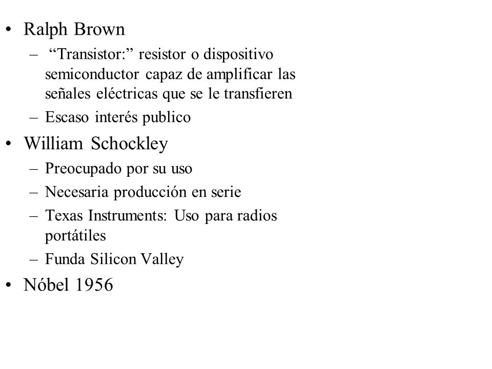 Ralph Brown William Schockley Nóbel 1956