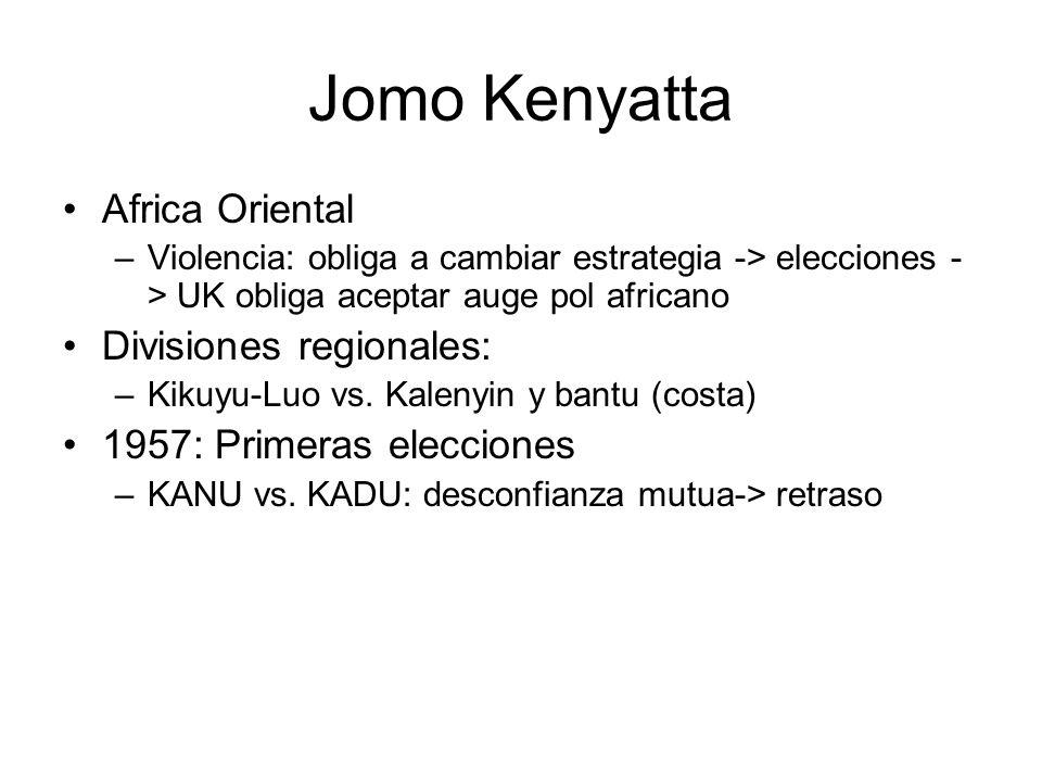 Jomo Kenyatta Africa Oriental Divisiones regionales: