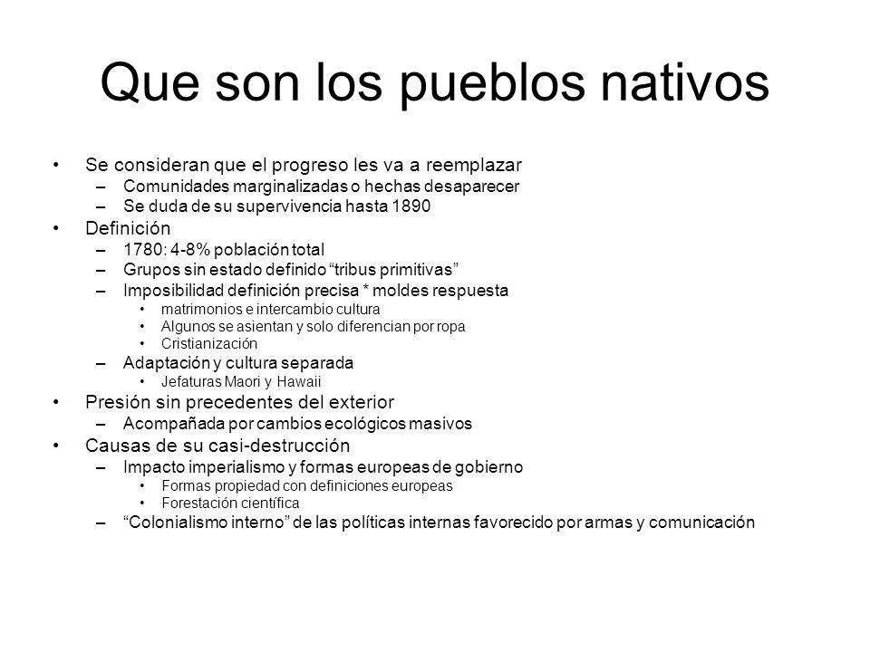 Que son los pueblos nativos