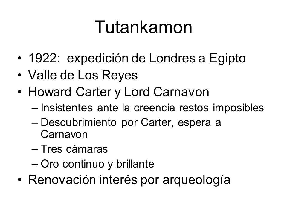 Tutankamon 1922: expedición de Londres a Egipto Valle de Los Reyes