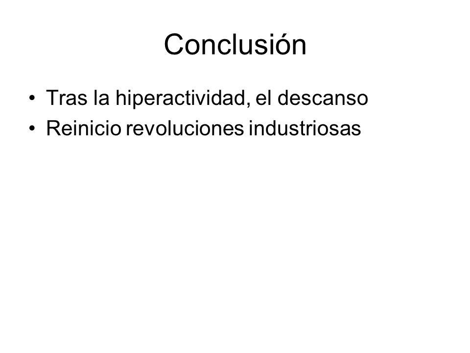 Conclusión Tras la hiperactividad, el descanso