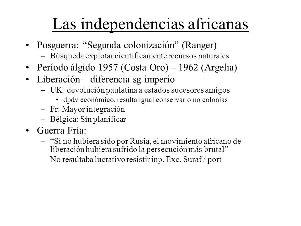 Las independencias africanas