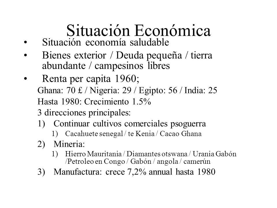 Situación Económica Situación economía saludable