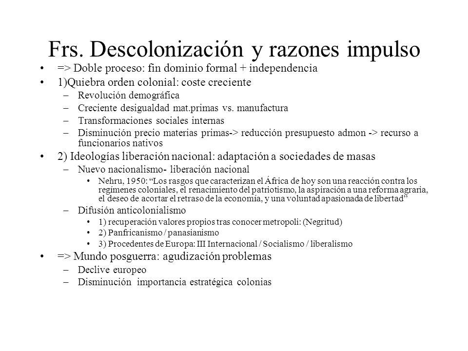 Frs. Descolonización y razones impulso