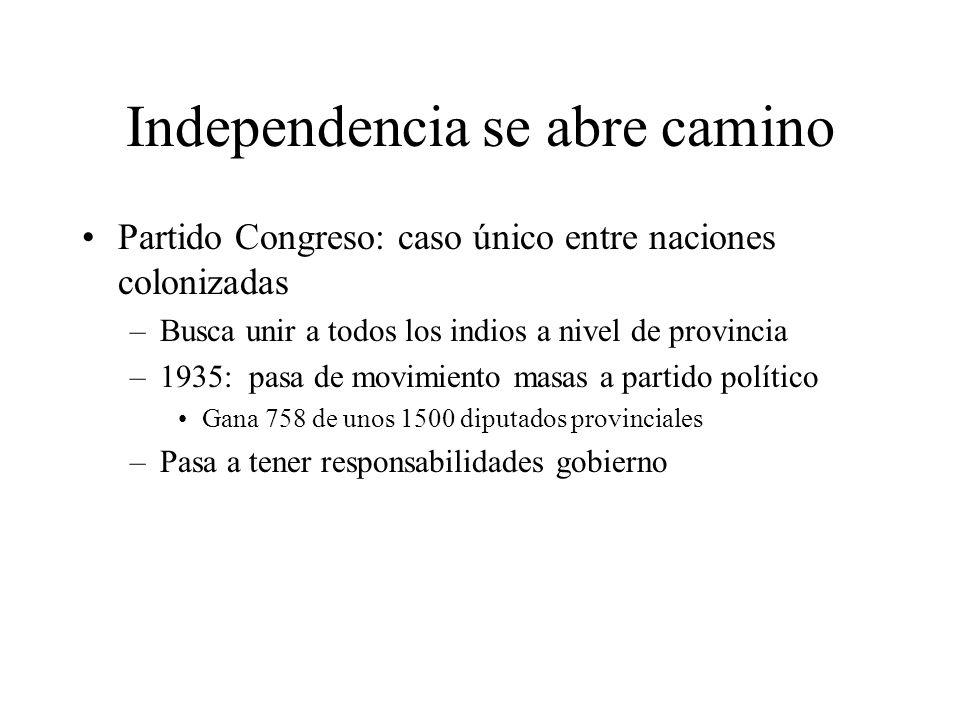 Independencia se abre camino