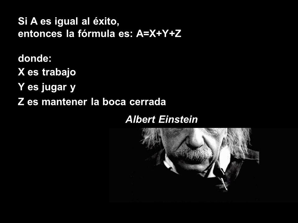 Si A es igual al éxito, entonces la fórmula es: A=X+Y+Z