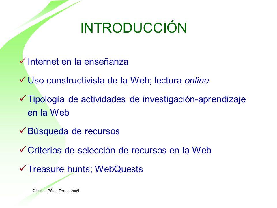 INTRODUCCIÓN Internet en la enseñanza
