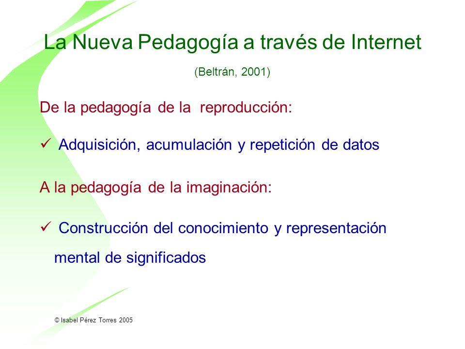 La Nueva Pedagogía a través de Internet (Beltrán, 2001)