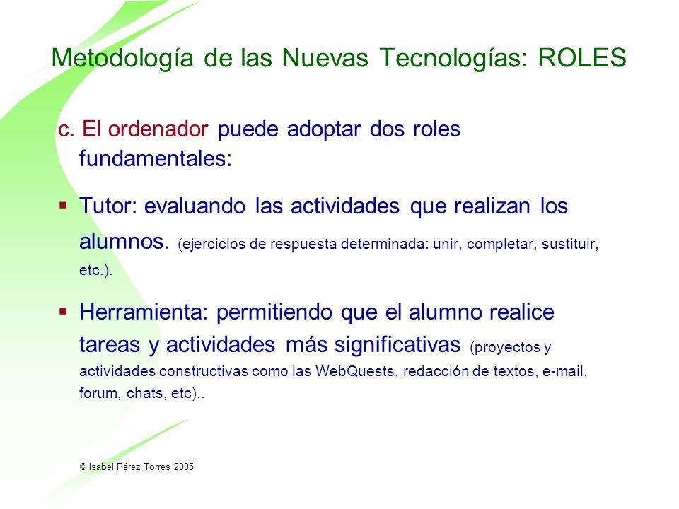 Metodología de las Nuevas Tecnologías: ROLES