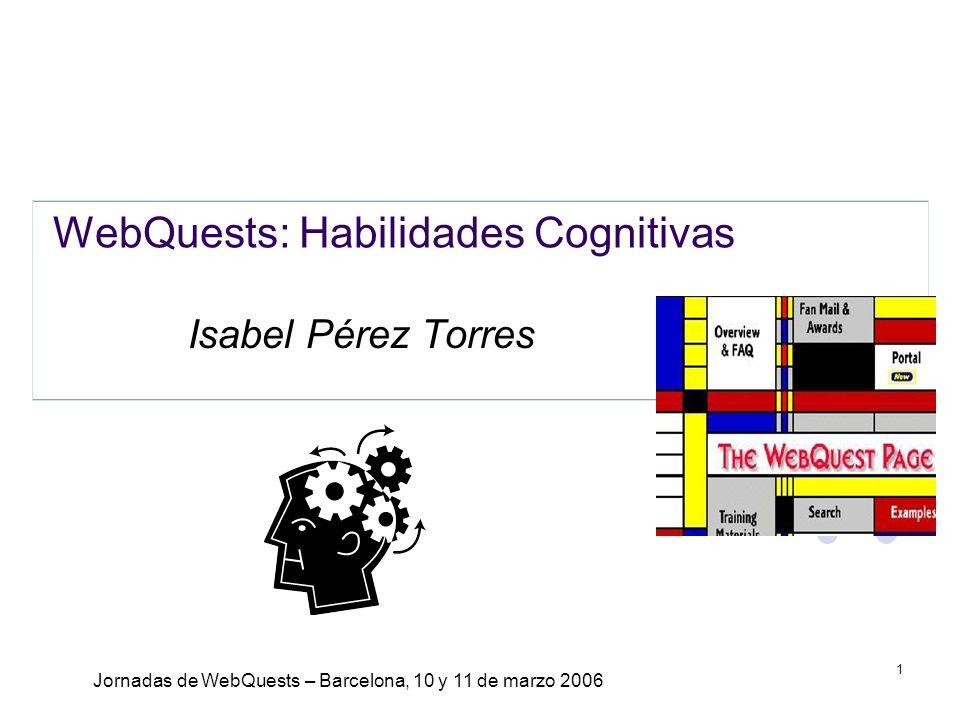 WebQuests: Habilidades Cognitivas