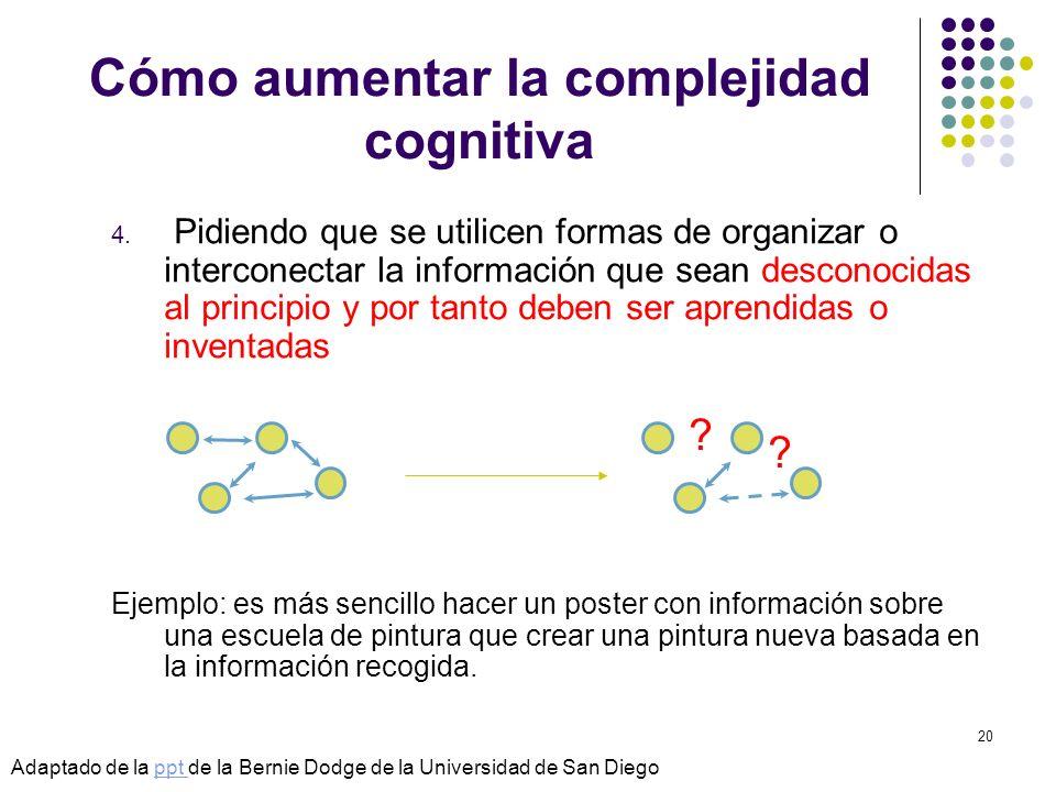 Cómo aumentar la complejidad cognitiva
