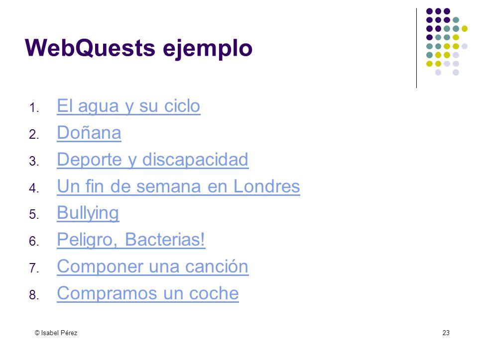 WebQuests ejemplo El agua y su ciclo Doñana Deporte y discapacidad