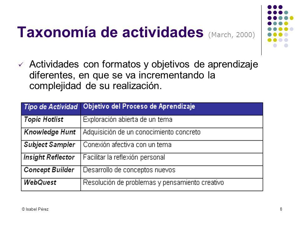 Taxonomía de actividades (March, 2000)
