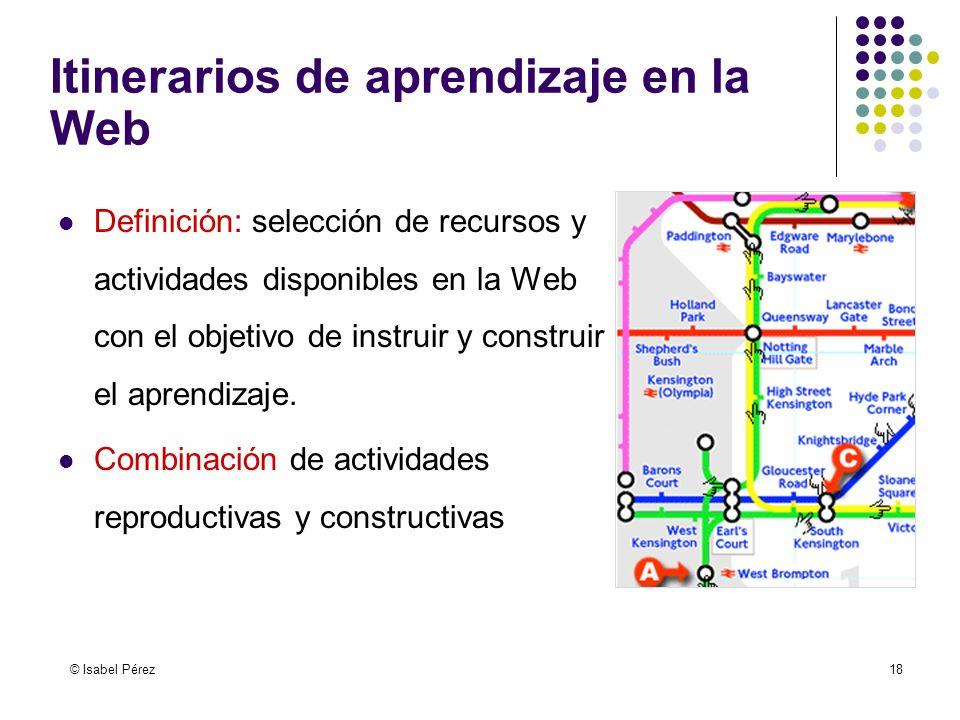 Itinerarios de aprendizaje en la Web