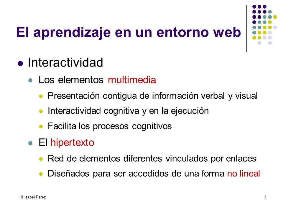 El aprendizaje en un entorno web