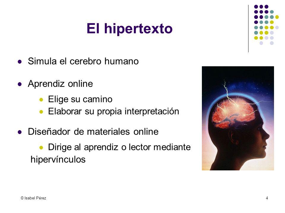El hipertexto Simula el cerebro humano Aprendiz online