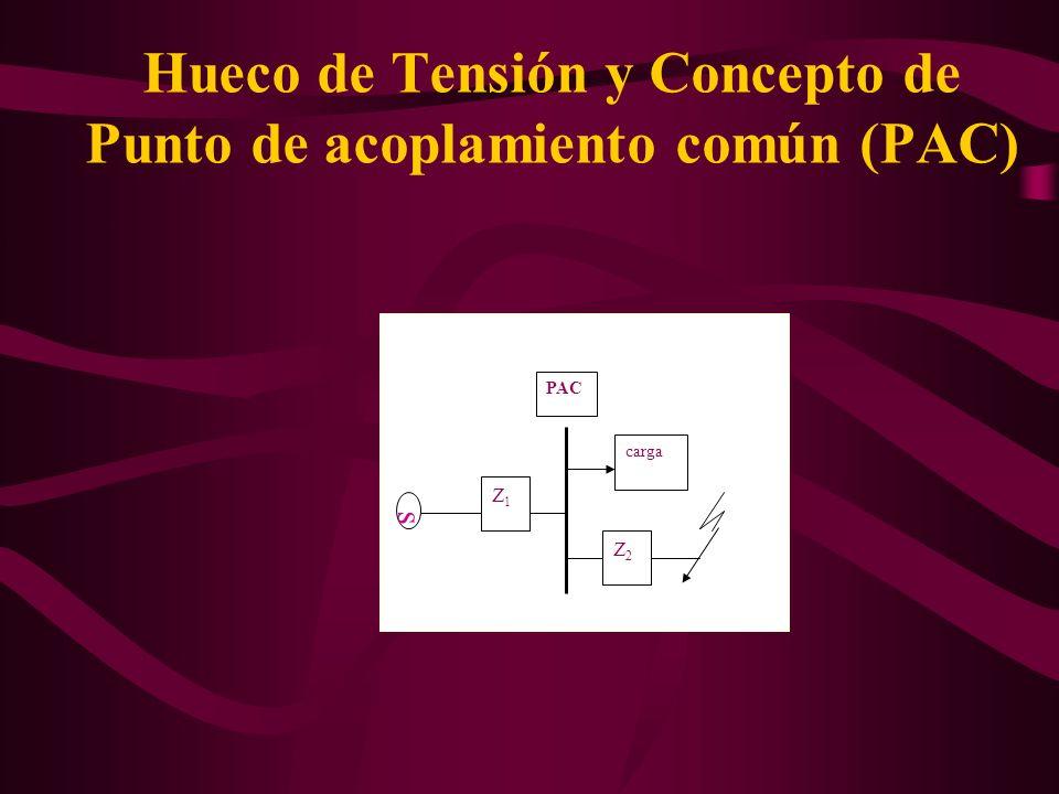Hueco de Tensión y Concepto de Punto de acoplamiento común (PAC)