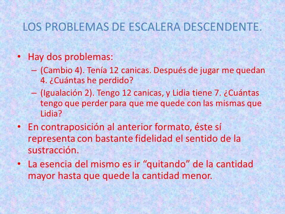 LOS PROBLEMAS DE ESCALERA DESCENDENTE.