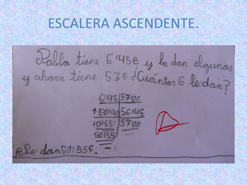 ESCALERA ASCENDENTE.