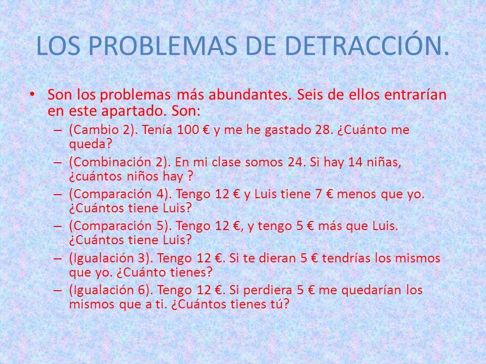 LOS PROBLEMAS DE DETRACCIÓN.