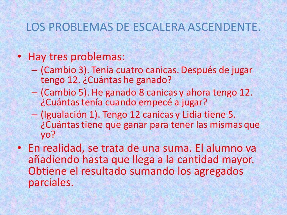LOS PROBLEMAS DE ESCALERA ASCENDENTE.