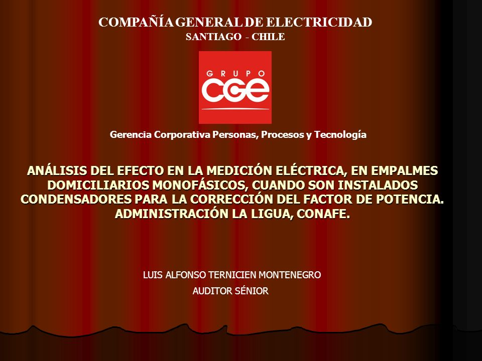 COMPAÑÍA GENERAL DE ELECTRICIDAD