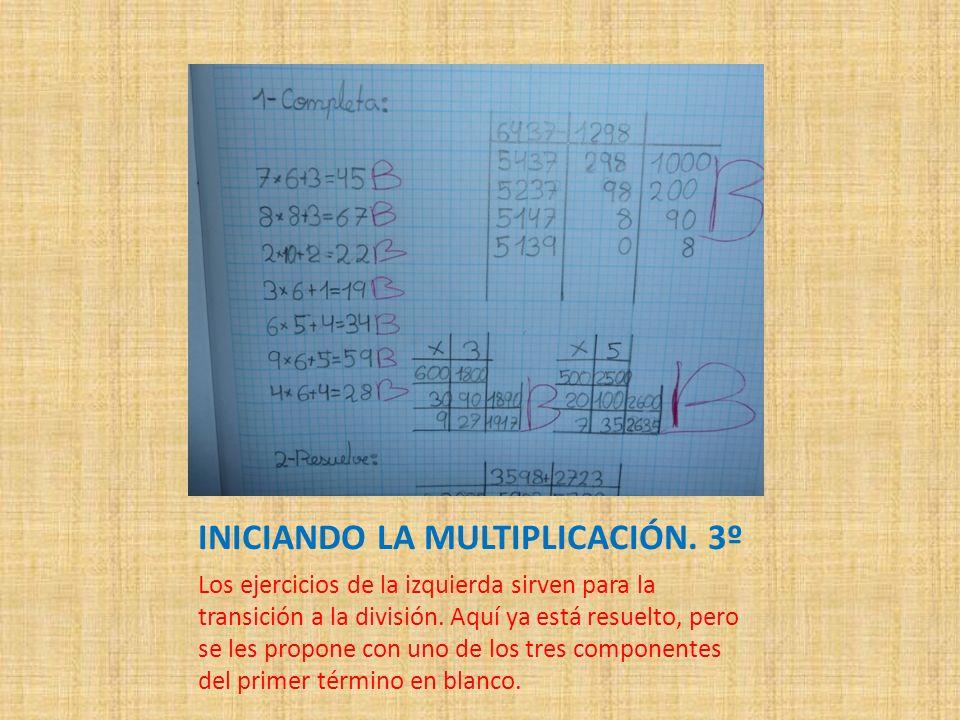 INICIANDO LA MULTIPLICACIÓN. 3º
