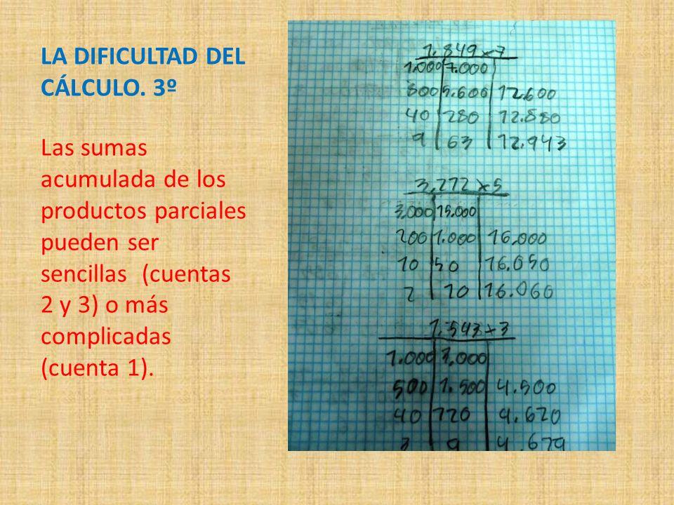 LA DIFICULTAD DEL CÁLCULO. 3º