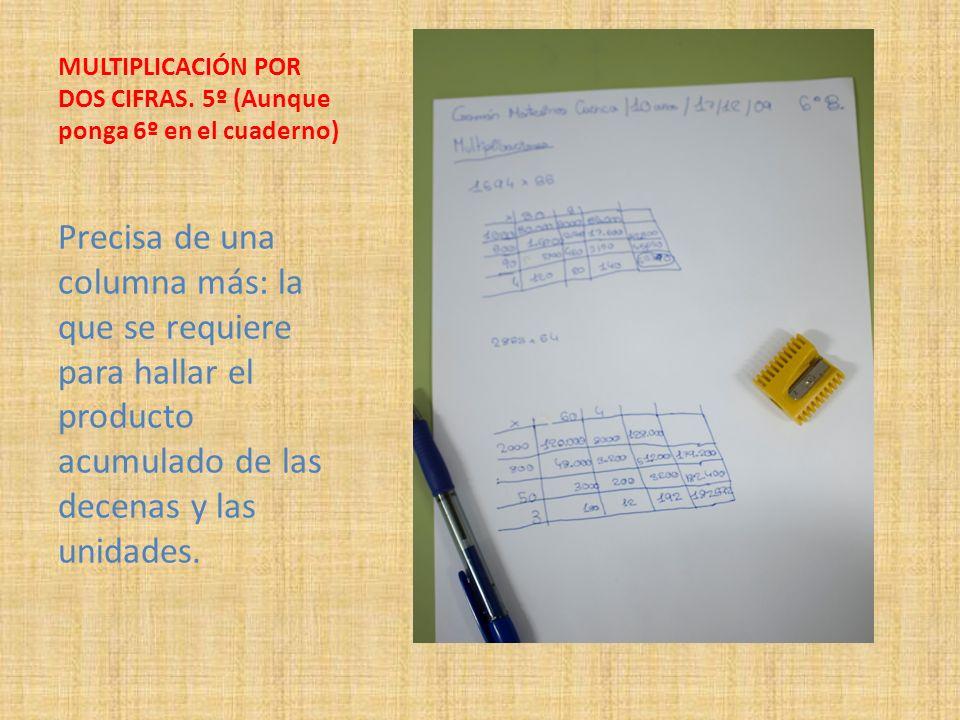 MULTIPLICACIÓN POR DOS CIFRAS. 5º (Aunque ponga 6º en el cuaderno)