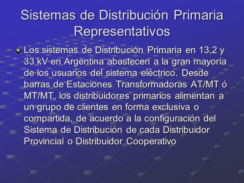 Sistemas de Distribución Primaria Representativos