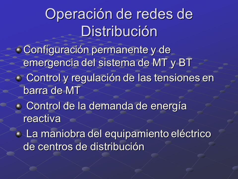 Operación de redes de Distribución