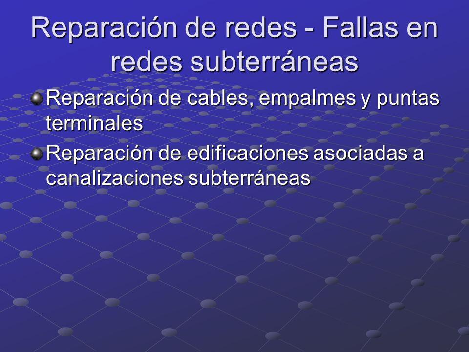 Reparación de redes - Fallas en redes subterráneas