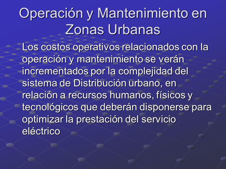 Operación y Mantenimiento en Zonas Urbanas