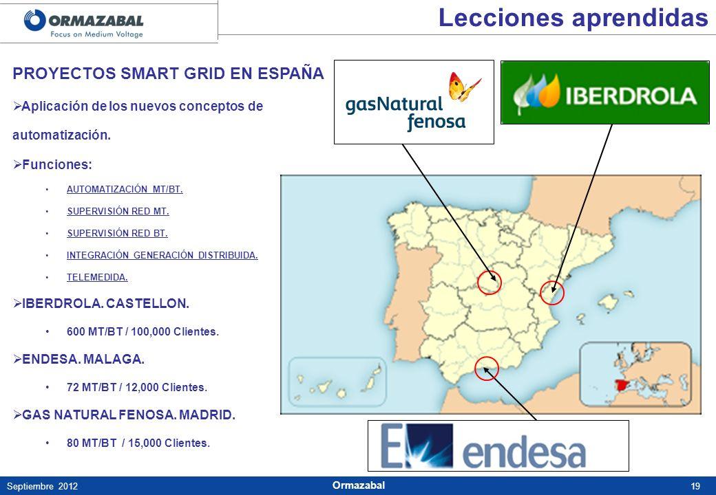 Lecciones aprendidas PROYECTOS SMART GRID EN ESPAÑA