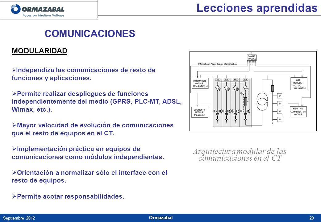 Arquitectura modular de las comunicaciones en el CT