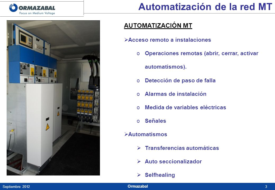 Automatización de la red MT